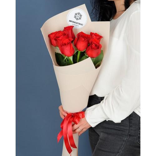 Купить на заказ Букет из 7 роз с доставкой в Серебрянске